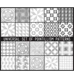 Geometric seamless pattern set repeating vector