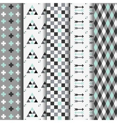 Geometrical pattern set vector image vector image