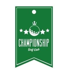 golf league design vector image