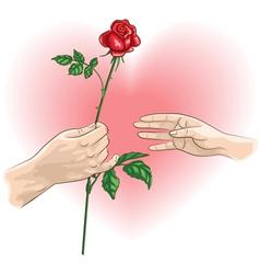 Hands rose vector