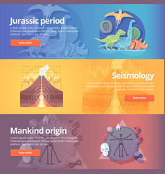 jurassic period dinosaur age seismography vector image vector image