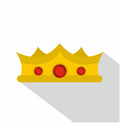 King crown icon flat style vector