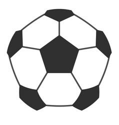 leather soccer ball icon isolated vector image vector image