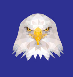 low poly eagle head vector image