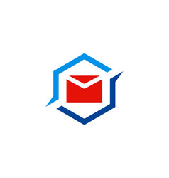 Mail message icon logo vector