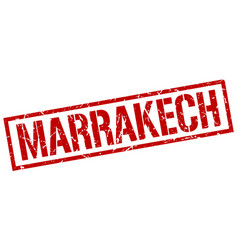 Marrakech red square stamp vector