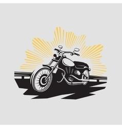 Motorcycle label Motorcycle symbol vector image vector image