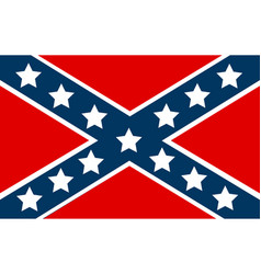 National flag of the confederate states of america vector