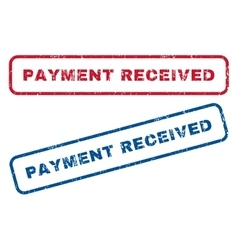 Payment received rubber stamps vector