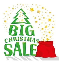 Santa Claus bag with big christmas sale vector image vector image