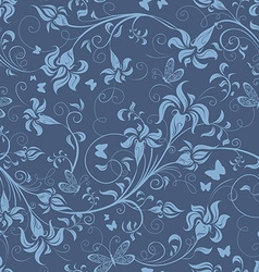 Seamless floral wallpaper vector image