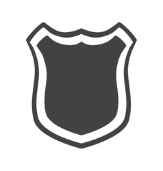 shield protection insignia security vector image