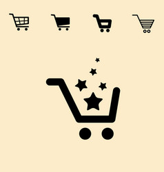 shopping cart icon set isolated vector image vector image