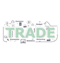 Trade word desigh vector