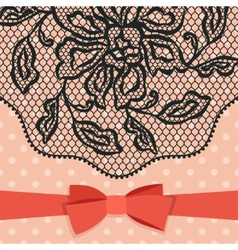 Vintage fashion lace ornament background with vector image