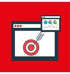 Page web internet target vector