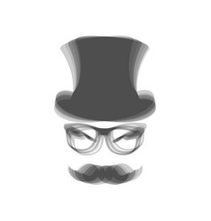 Hipster accessories design  gray icon vector