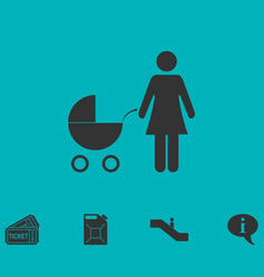 Maternity icon flat vector