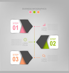 infographic of step flat design of business icon vector image