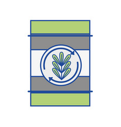 Tank with plant symbol to environment care vector