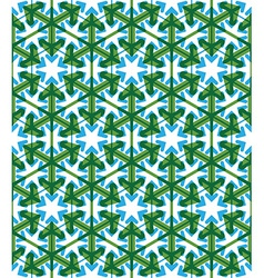 Geometric green abstract seamless pattern with vector