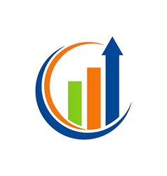 Business finance arrow chart logo vector