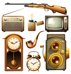 Vintage objects vector