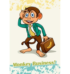Old saying monkey business vector
