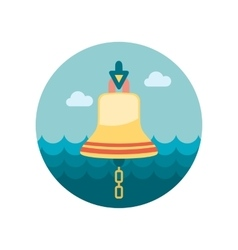 Bell marine flat icon vector