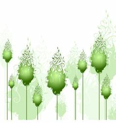 abstract trees vector image