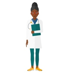Doctor with stethoscope and file vector