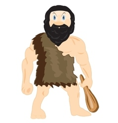 Cave person with blackjack vector