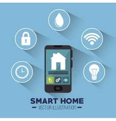 Smart house and its applications isolated icon vector