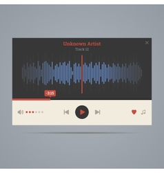 Audio player with equalizer vector image