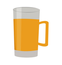 Beer in glass and mug drink alcohol vector