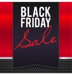 Black Friday sale large banner pennant flag vector image vector image