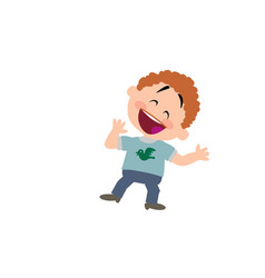 cartoon character boy cheerful vector image vector image