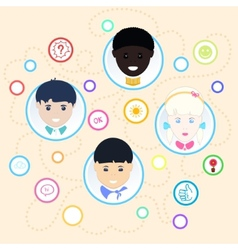 Children of different nationalities vector
