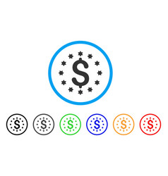 Dollar rounded icon vector