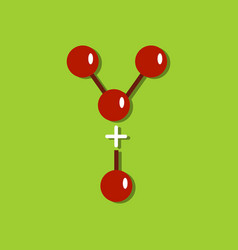 Flat icon design collection attaching molecules vector