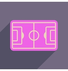 Flat web icon with long shadow football field vector