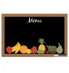 fruit menu vector image vector image
