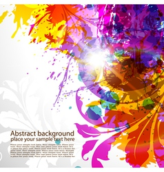 grunge colored background vector image vector image