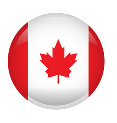 Isolated flag of canada vector
