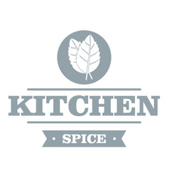 Kitchen spice logo simple gray style vector