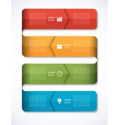 Modern Business Infographics Options Template vector image vector image