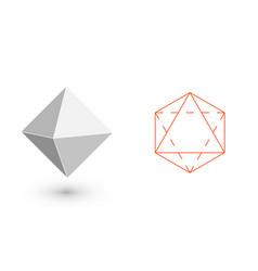 octahedron - geometric figure hipster fashion vector image