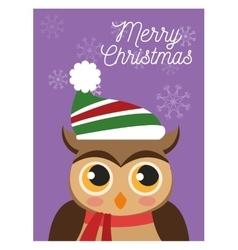 Owl cartoon of christmas season design vector
