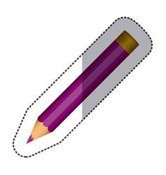 purple pencil school icon vector image