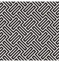 Seamless Black And White Geometric Stripes vector image vector image